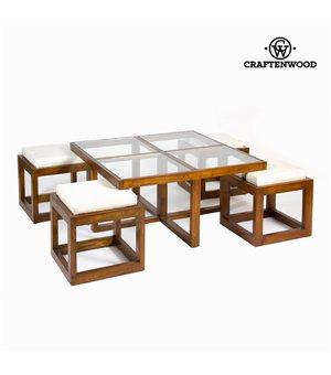 F-142 kaffeetisch-set mit 4 stühlen - Serious Line Kollektion by Craftenwood