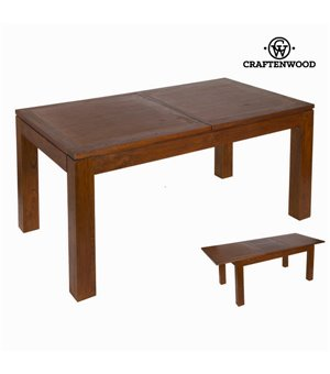 Asuziehbarer Tisch Mindiholz (160 x 90 x 78 cm) - Nogal Kollektion by Craftenwood