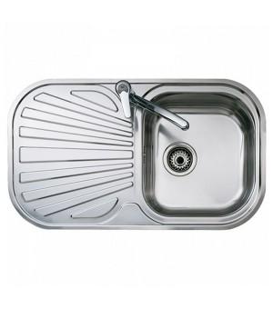 Spülbecken mit einem Becken und Abtropffläche Teka Reversibel Edelstahl