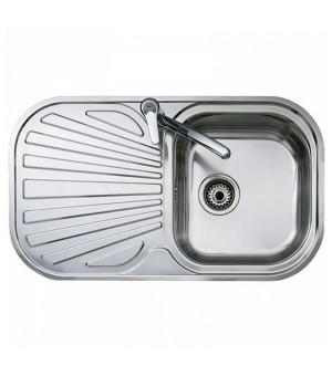 Spülbecken mit einem Becken und Abtropffläche Teka Edelstahl