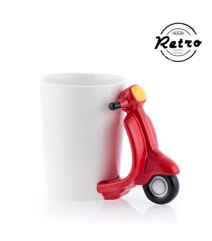 Retro Scooter Tasse