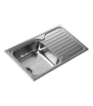 Spülbecken mit einem Becken und Abtropffläche Teka SF 10119013 Edelstahl