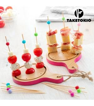 Take Tokio Servierbrettchenset für Tapas aus Bambus (16 Teile)
