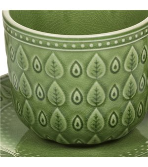 Tasse mit Untertasse Natural (11 X 11 x 7 cm)