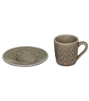 Tasse mit Untertasse Natural (15 X 15 x 10 cm)