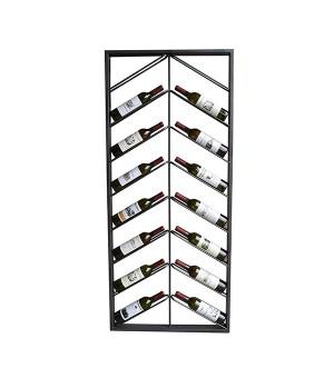 Flaschenregal Metal Wall (160 x 6 x 70 cm)