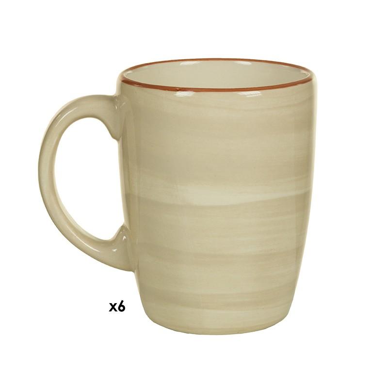 Set aus 6 Teetassen (6 pcs) (8,5 x 12,5 x 10 cm) - Queen Kitchen Kollektion