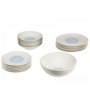 Spisestel (19 pcs) Porcelæn Blau