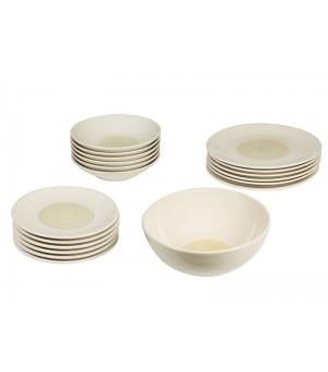 Spisestel (19 pcs) Porcelæn Gelb