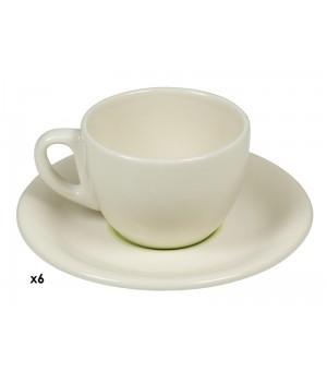 Kaffeservice (12 pcs) Porcelæn Grün