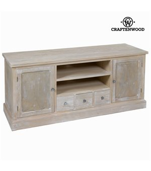 TV-Tisch Kiefernholz Mdf Paulonia-holz (150 x 50 x 66 cm) - Natural Kollektion by Craftenwood
