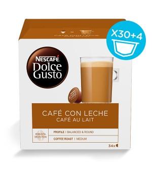 Kaffeekapseln Nescafé Dolce Gusto (34 uds) Cafe au lait