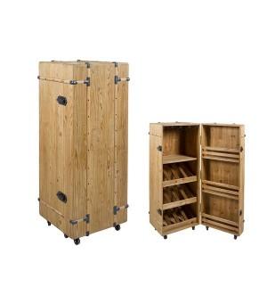 Flaschenregal Cabinet Tannenholz (126 X 50 x 50 cm)