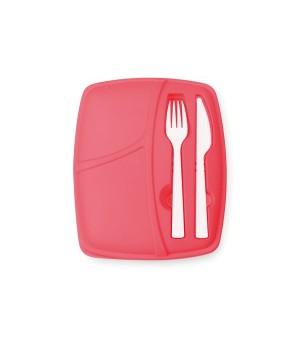 Lunchbox mit Besteckteil...