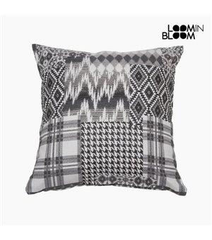 Kissen (45 x 10 x 45 cm) Baumwolle und polyester Schwarz