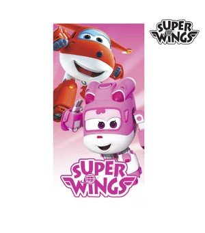 Super Wings rosafarbenes Strandtuch
