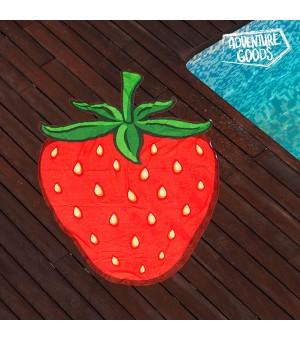 Adventure Goods Strandtuch Erdbeere