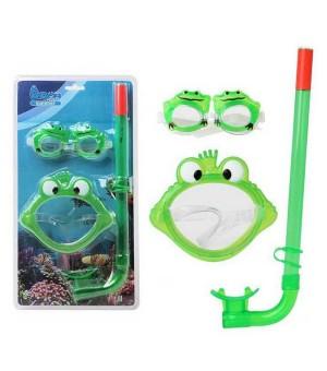 Kinder-Tauchbrille mit Schnorchel Frosch 115937