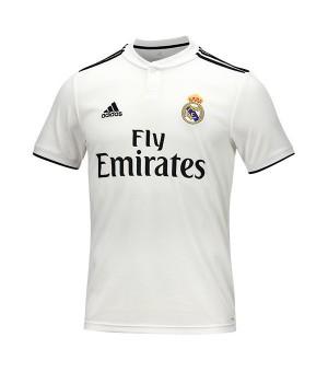 Kurzärmiges Fußball T-Shirt für Männer Adidas Real Madrid Weiß 18/19 (1ª)