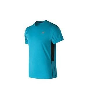Herren Kurzarm-T-Shirt New Balance ACCELERATE Blau