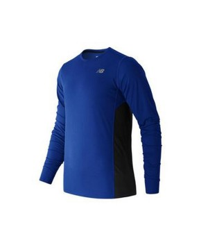 Herren Langarm-T-Shirt New Balance ACCELERATE Blau