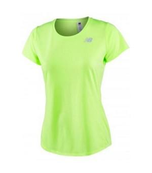 Damen Kurzarm-T-Shirt New Balance ACCELERATE Gelb Fluoreszierend