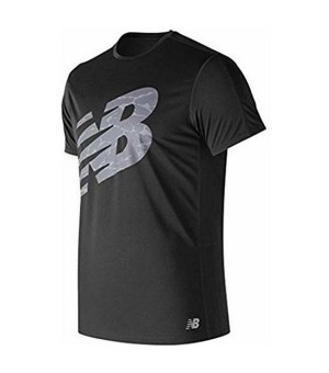 Herren Kurzarm-T-Shirt New Balance ACCELERATE PRINT Schwarz