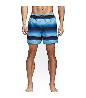 Herren Badehose Adidas Stripe Sh Sl Schwarz Blau (Größe xl)