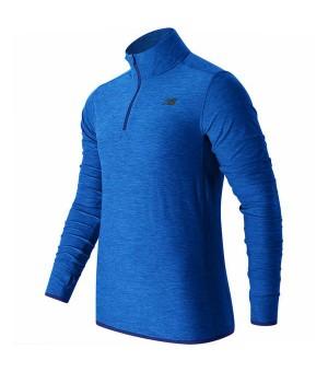 Herren Langarm-T-Shirt New Balance MT53030 BTL Blau