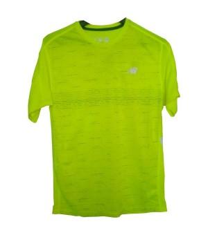 Herren Kurzarm-T-Shirt New Balance MT81274 THN Gelb Fluoreszierend