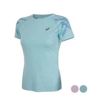 Damen Kurzarm-T-Shirt Asics ASICS Stripe SS Top