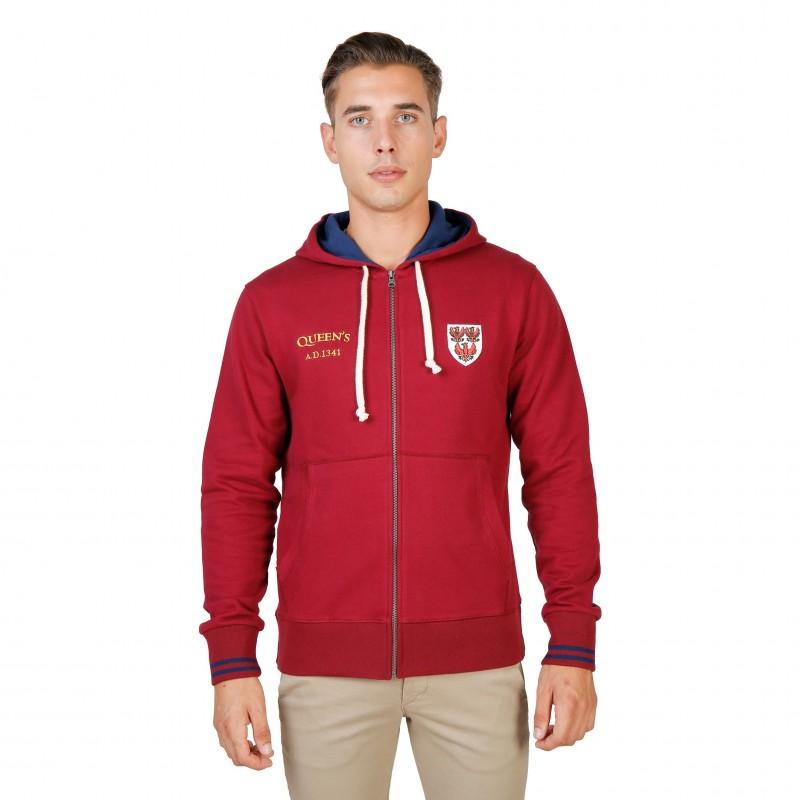 Oxford University Herren Sweatshirts Rot - QUEENS-HOODIE
