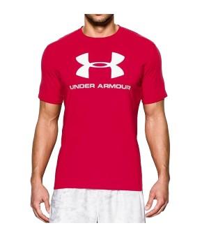 Herren Kurzarm-T-Shirt Under Armour 1257615-600 Rot (Größe l)