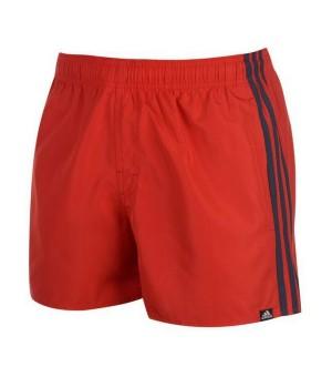 Herren Badehose Adidas 3S SH VSL Rot