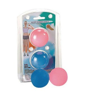 Kugel zur Handstärkung Atipick Soft (2 uds) Blau Rosa Gummi