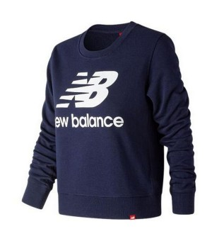 Damen Sweater ohne Kapuze New Balance WT91585PGM Marineblau
