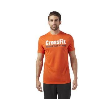Herren Kurzarm-T-Shirt Reebok RC FEF Tee  Speedwick Orange