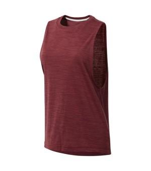 Ärmelloses Damen-T-Shirt Reebok el Marble Muscle Tank Burgunderrot