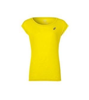 Kurzärmliges Sport T-Shirt Asics Layering Top Damen Gelb