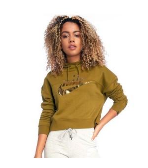 Damen Sweater mit Kapuze Nike SW Rally Hoodie Metallic