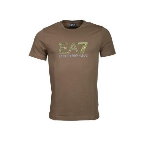 Herren Kurzarm-T-Shirt Armani Jeans 3GPT18 Grün
