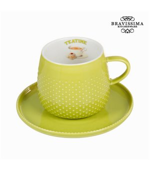 Tasse mit grünem teller - Kitchen's Deco Kollektion by Bravissima Kitchen