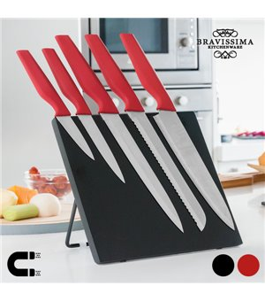 Bravissima Kitchen Messer mit Magnethalter (6 Teile)