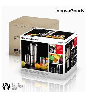 InnovaGoods One Touch Standmixer und Entsafter mit Rezeptbuch 250W Grau