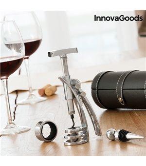 InnovaGoods Screwpull Hebelkorkenzieher- und Weinzubehörset (4 Stück)