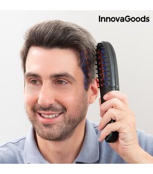 InnovaGoods Elektrischer Haarwuchsfördernder Kamm mit Zubehör (12-teilig)