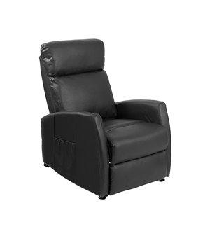 Cecotec 6180 Kompakter Schwarzer Massagesessel zum Zurücklegen