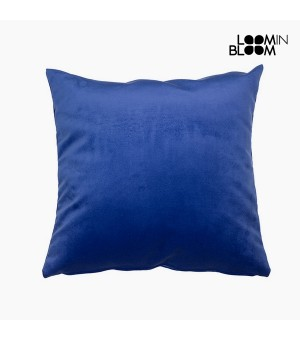 Kissen Polyester Blau (45 x 45 x 10 cm) by Loom In Bloom