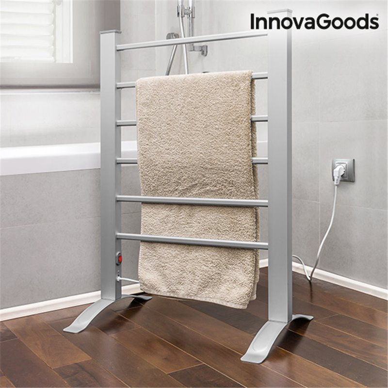 InnovaGoods 90W Elektrischer Handtuchhalter in Grau (6 Rippen)
