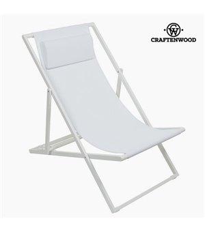 Garden chair Aluminium Textilene Weiß by Craftenwood